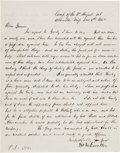 Autographs:Military Figures, Union General Marcellus M. Crocker Autograph Letter Signed. ...