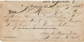 Autographs:Military Figures, General James A. Hardie: 1865 Signed War Department Pass....