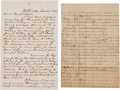 Autographs:Military Figures, Colonel Isaac Foster Hunt and General James A. Walker: Two Documents.... (Total: 2 )