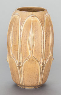 AN AMERICAN GLAZED EARTHENWARE VASE, Rookwood Pottery, Cincinnati, Ohio, circa 1924 Marks: RP (addorse