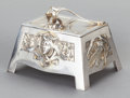 Paintings, A GERMAN SILVER AND SILVER GILT LIDDED BOX, Johann Christian Wich, Nürnberg, Germany, 20th century. Marks: J.C. WICH, NÜRN...