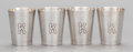 Silver & Vertu:Hollowware, A SET OF FOUR AMERICAN SILVER SHOT GLASSES, Shreve & Co., San Francisco, California, first half 20th century. Marks: (S-bell... (Total: 4 Items)