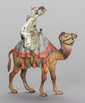 Paintings, AN AUSTRIAN ORIENTALIST COLD PAINTED BRONZE FIGURE, circa 1920. Marks: Vienna, St, B. 7 x 6 x 2-3/4 inches (17.8 x 15.2 ...