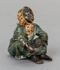 Sculpture, AN AUSTRIAN COLD PAINTED BRONZE FIGURE, After Franz Xavier Bergman, circa 1900. 2-3/4 x 2-1/2 x 1-1/2 inches (7.0 x 6.4 x 3....