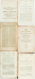 Books:Americana & American History, [Americana]. Various Reports from the United States Secretaries ofWar, the Navy, the Treasury, the Interior. 1823-1856. Tog...