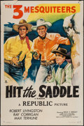 """Movie Posters:Western, Hit the Saddle & Other Lot (Republic, R-1940s). One Sheets (2) (27"""" X 41""""). Western.. ... (Total: 2 Items)"""
