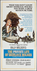 "Movie Posters:Mystery, The Private Life of Sherlock Holmes (United Artists, 1970). ThreeSheet (41"" X 79""). Mystery.. ..."