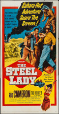 "Movie Posters:War, The Steel Lady (United Artists, 1953). Three Sheet (41"" X 81"").War.. ..."