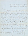 Autographs:Military Figures, General Richard Taylor: War-date Autographed Letter Signed....