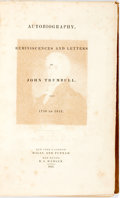 Books:Biography & Memoir, [John Trumbull]. Autobiography, Reminiscences and Letters ofJohn Trumbull, from 1756-1841. New York and London: Wil...