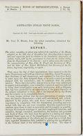Books:Americana & American History, [Americana]. House of Representatives Report No. 78: AbstractedIndian Trust Bonds. 1861. Publisher's black embossed...