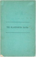 Books:Americana & American History, [Americana, War of 1812]. The Bladensburg Races. [N.p.,1965]. Second edition of a poem originally published in 1816...
