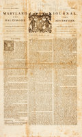 Miscellaneous:Newspaper, [Newspaper]. Facsimile Copy of The Maryland Journal and TheBaltimore Advertiser. August 20, 1773. Four pages, folde...