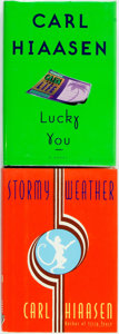 Books:Mystery & Detective Fiction, Carl Hiaasen. Lucky You [and:] Stormy Weather. NewYork: Knopf, 1995, 1997. First editions first printings. ...(Total: 2 Items)