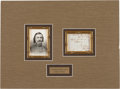 Autographs:Military Figures, General George E. Pickett Endorsement Signed....
