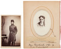 Photography:CDVs, Governor Lucius Fairchild and Wife:Two Photographs.... (Total: 2 Items)