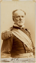 Photography:Studio Portraits, General William Tecumseh Sherman Photograph Twice Signed....