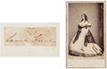 Photography:CDVs, Laura Keene: Carte de Visite with Clipped Signature.... (Total: 2 )