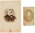 Photography:Cabinet Photos, Robert E. Lee: One Cabinet Card and One Carte de Visite....
