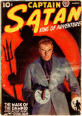 Books:Mystery & Detective Fiction, [Pulps]. Captain Satan, King of Adventure, Vol. 1, No. 3.March, 1938. Chicago: Popular Publications, [1938]. Pu...