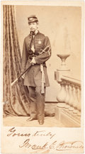 Photography:CDVs, Medal of Honor Recipient Francis Edwin Brownell Carte de Visite Twice Signed....