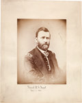 Photography:Studio Portraits, Ulysses S. Grant: Large Mounted Photograph....