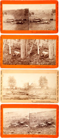 Photography:Stereo Cards, Civil War Stereoviews: Lot of Four Stereo Cards of Dead Soldiers Gettysburg Battlefield From the War for the Union Photographi... (Total: 4 )