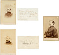 Photography:CDVs, Group of Three Cartes de Visite of Union Generals and Signatures... (Total: 5 )
