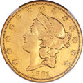 Liberty Double Eagles, 1861-O $20 VF35 NGC....