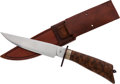 Edged Weapons:Knives, Bowie Knife and Scabbard by Jon Christensen....