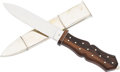 Edged Weapons:Knives, San Francisco-Style Bowie Knife and Scabbard by Shaw....