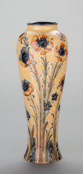 Ceramics & Porcelain, AN ENGLISH POTTERY VASE, Moorcroft, Burslem (Stoke-on-Trent), Staffordshire, England, 20th century. Marks: Moorcroft, des....