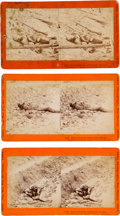Photography:Stereo Cards, Confederate Dead at Petersburg: Taylor & Huntington Stereoviews.... (Total: 3 Items)
