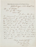 Autographs:U.S. Presidents, Ulysses S. Grant Autograph Letter of Recommendation Signed...