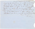 Autographs:Military Figures, Lt. General Wade Hampton III: War-date Document Signed....