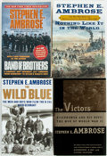 Books:Americana & American History, Stephen E. Ambrose. Group of Three Books and a Dust Jacket. TheVictors is a first edition (Simon and Schuster, [1998])....(Total: 4 Items)