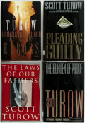 Books:Mystery & Detective Fiction, Scott Turow. Group of Four First Editions. New York: Farrar StrausGiroux, [1990-2002]. Publisher's bindings and original du...(Total: 4 Items)