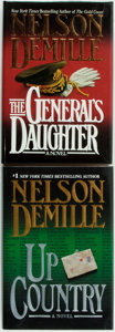 Books:Mystery & Detective Fiction, Nelson DeMille. SIGNED. The General's Daughter [and:] Up Country. Warner Books, [1992, 2002]. First editions... (Total: 2 Items)