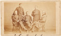 Photography:CDVs, George Armstrong Custer Carte de Visite with Members of Phil Sheridan's Staff, circa 1865....