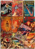 Books:Science Fiction & Fantasy, [Pulps]. Ten Issues of Astounding Stories. New York: Clayton Magazines, 1931. Publisher's printed wrappers. Varying ... (Total: 10 Items)