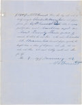 Autographs:Military Figures, [Slavery]. Nathan Bedford Forrest Slave Bill of Sale TwiceSigned...