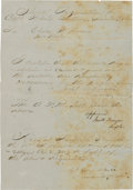 Autographs:Military Figures, John Hunt Morgan Document Signed....