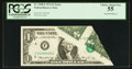 Error Notes:Foldovers, Fr. 1908-F $1 1974 Federal Reserve Note. PCGS Choice About New 55.....