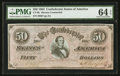 Confederate Notes:1864 Issues, Counterfeit CT66/501 PF-12 $50 1864.. ...