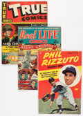 Golden Age (1938-1955):Miscellaneous, Comic Books - Assorted Golden Age True-Life Comics Group (Various Publishers, 1943-51) Condition: Average VG-.... (Total: 22 Comic Books)