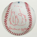 Miscellaneous Collectibles:General, Denton A. Cooley Single Signed Baseball With Heart Drawing!(Surgeon Responsible For First Heart Transplant)....