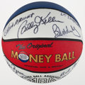 Basketball Collectibles:Balls, Indiana Pacers Multi Signed ABA Reunion Basketball. ...