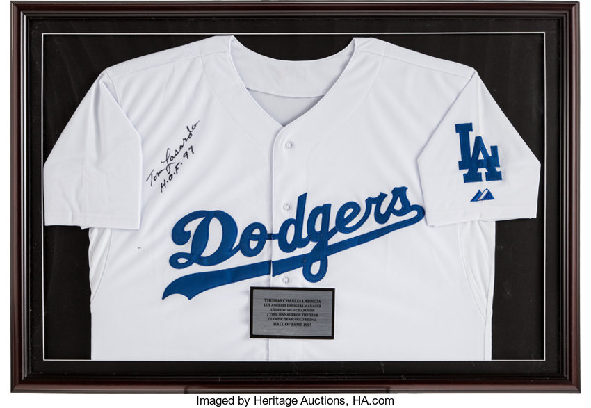 brand new 9724e cdebb Tom Lasorda Signed Los Angeles Dodgers Jersey.... Baseball ...