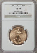 Modern Bullion Coins, 2012 $25 Half-Ounce Gold Eagle MS70 NGC. NGC Census: (0). PCGS Population (27). Numismedia Wsl. Price for problem free NGC...