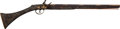 Long Guns:Muzzle loading, Silver and Gold Inlaid Middle Eastern Flintlock Boys Rifle....